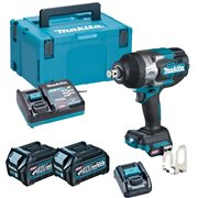 Makita  MakitaTW001G 40v Max XGT Brushless Impact Wrench,2x 2.5Ah Batteries, Charger & Case