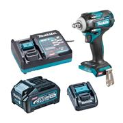 Makita TW004GD102 Makita 40V MAX XGT Brushless Impact Wrench with 1x 2.5Ah Battery, Charger & Adaptor (for LXT) & Case