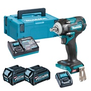 Makita TW004GD203 Makita TW004GD203 40V MAX XGT Brushless Impact Wrench with 2x 2.5Ah Batteries, Charger & Case