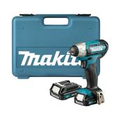 Makita TW060DWAE 12v CXT 1/4'' Impact Wrench with 2 x 2Ah Batteries and Carry Case