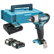 Makita TW141DWAE Makita TW141DWAE 12v CXT Max 1/2'' Impact Wrench with 2 x 2Ah Batteries, Charger and Case