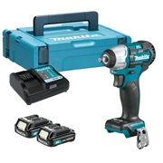 Makita TW160DSAJ 12v CXT Brushless 3/8'' Impact Wrench with 2 x 2Ah Batteries, Charger and Case