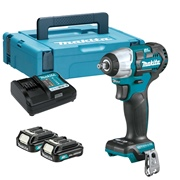 Makita TW161DSAJ 12v CXT Brushless 1/2'' Impact Wrench with 2 x 2Ah Batteries, Charger and Case