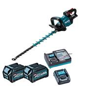 Makita UH005GD202 Makita UH005G 40V XGT 75cm Brushless Hedge Trimmer, 2x 2.5Ah Batteries, Battery Adaptor & Charger