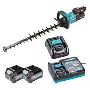 Makita UH006GD202 Makita UH006G 40V XGT 60cm Brushless Hedge Trimmer, 2x 2.5Ah Batteries, Battery Adaptor & Charger