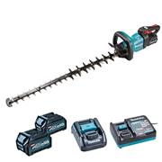 Makita UH007GD202 Makita UH007G 40V XGT 75cm Brushless Hedge Trimmer, 2x 2.5Ah Batteries, Battery Adaptor & Charger