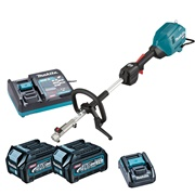 Makita UX01GD201 Makita UX01GD 40V MAX Brushless Split Shaft with 2x 2.5AH Batteries, Charger & Battery Adaptor