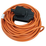 Masterplug BOG10O Outdoor Power Orange 1 Gang Heavy Duty Extension Lead 10m