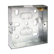 BG HGS01-01 Metal Knockout Box 1 Gang 16mm Galvanised Pressed Steel