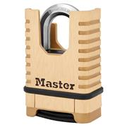 Master Lock 58mm Excell Solid Brass Closed Shackle Combination Padlock