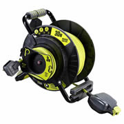 Masterplug OATRU3013FL3IP 240v 30m + 3m 4 Gang IP Socket 13A Anti Twist Reverse Reel
