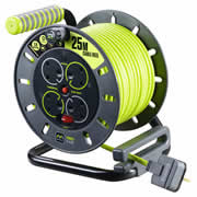 Masterplug OLU25134SL 240v 25m 4 Socket 13A Metal Cable Reel