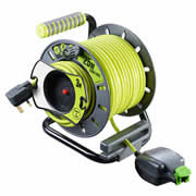 Masterplug OMU2513FL3IP 240v 25m +3m Outdoor Reverse Open Cable Reel