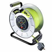 Masterplug OTLU40134SL Masterplug 240v 40m 4 Socket 13A Metal Cable Reel