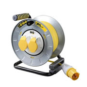 Masterplug OTMU30162LV 30m 2 Gang 16a 110v Large Metal Open Cable Reel