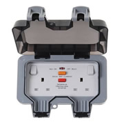 BG WP22RCD-01 BG Weatherproof 2 Gang 13A RCD Switched