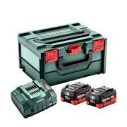 Metabo 685142000 Metabo 18v Basic Set 2 x 10.0Ah Batteries, ASC 145 Charger and Case