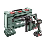 Metabo COMBO SET 2.5.2 Metabo COMBO SET 2.5.2 18V Brushless 2 Piece kit, with 1 x 4Ah & 2Ah Batteries, Charger and Case