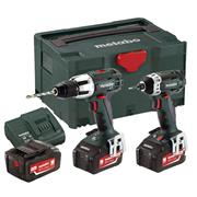 Metabo COMBOSET213X3 18v 2 Piece Kit with 3 x 4Ah Batteries, Charger and Case