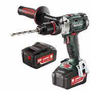 Metabo SB18LTX 18v Combi Drill with 2 x 4Ah Batteries, Charger and Case