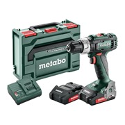 Metabo  Metabo 18V Combi Drill with 2 x 2.0Ah Li-Ion Batteries