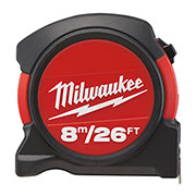 Milwaukee 48225625 Milwaukee 8m Metric and Imperial Contractor Tape Measure