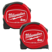 Milwaukee 48227708PK2 Slimline S8/25 Tape Measure 8m - Pack of 2