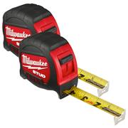 Milwaukee 48229908PK2 STUD Tape Measure 7.5m - Pack of 2