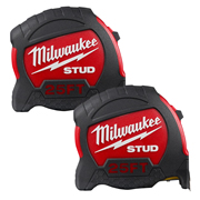 Milwaukee 48229926PK2 STUD Tape Measure 7.5m/27ft - Pack of 2