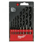 Milwaukee 4932352466 Brad Point Drill  Set - 8pcs