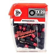 Milwaukee 4932430875 Milwaukee TX20 25mm Shockwave Impact Screwdriver Bit Box - Pack of 25