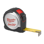Milwaukee 4932451642 Milwaukee 8m/26' Compact Line Tape Measure C8-26/25
