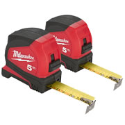 Milwaukee 4932459593PK2 Milwaukee 5m Pro Compact Tape Measure C5/25 Twinpack