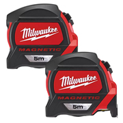Milwaukee 4932464599PK2 Magnetic Tape Measure 5m Metric - Pack of 2