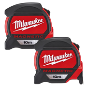 Milwaukee 4932464601PK2 Magnetic Tape Measure 10m Metric - Pack of 2