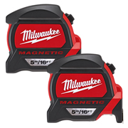 Milwaukee 4932464602PK2 Magnetic Tape Measure 5m/16ft - Pack of 2