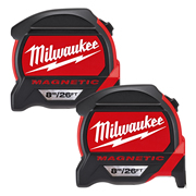 Milwaukee 4932464603PK2 Magnetic Tape Measure 8m/26ft - Pack of 2