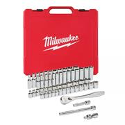 "Milwaukee 4932464944 1/4"" Drive Ratchet & Socket Set – Metric & Imperial - 50pc"