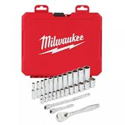 "Milwaukee 4932464945 3/8"" Drive Ratchet & Metric Socket Set - 32pc"