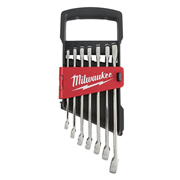Milwaukee 4932464993 7pc Ratcheting Metric Comb Spanner Set