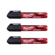 Milwaukee 4932471554 INKZALL Black L Chisel Tip Marker - Pack of 3