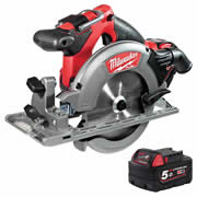 Milwaukee 4933451377 Milwaukee 18v Fuel Brushless 165mm Circular Saw 5.0Ah