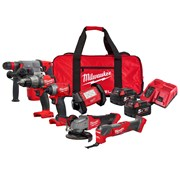 Milwaukee M18FPP612-502B Milwaukee M18FPP612-502B 18V FUEL 6 Piece Kit with 2 x 5Ah Batteries, Charger and Bag
