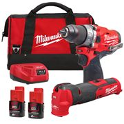Milwaukee M12FPP2BA-202B Milwaukee M12FPP2BA-202B 12V FUEL Twin Pack with 2x 2Ah Batteries, Charger and Bag