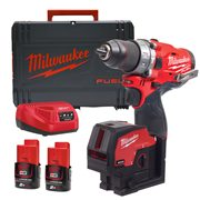 Milwaukee M12FPPBB-202X Milwaukee M12FPPBB-202X 12V FUEL Twin Pack with 2x 2Ah Batteries, Charger and Case