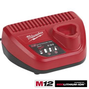 Milwaukee C12C Milwaukee Li-ion 30/60min 12V Battery Charger (240V)