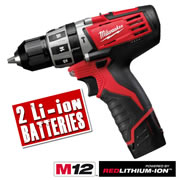 Milwaukee C12PD202C Milwaukee 12v Red Lithium-ion Cordless Hammer Drill Driver