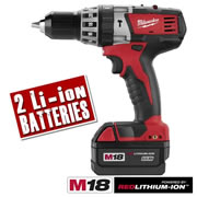 Milwaukee C18PD32 Milwaukee 18V Red Lithium-ion Cordless Hammer Drill/Driver