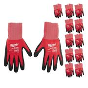 Milwaukee DGLOVESCUT1PK12 Cut-Resistant Dipped Gloves - Cut Level 1 - Pack of 12