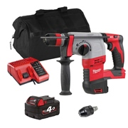Milwaukee HD18HXITS Milwaukee HD18HXITS 18V M18 FIXTEC SDS+ Drill with 1 x 4Ah Battery, Charger and Bag